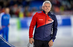 11-12-2016 NED: ISU World Cup Speed Skating, Heerenveen<br /> Coach Petr Novak