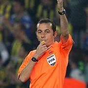 Referee's Cuneyt CAKIR during their Turkish superleague soccer match Fenerbahce between Ankaragucu at the Sukru Saracaoglu stadium in Istanbul Turkey on Sunday 15 May 2011. Photo by TURKPIX