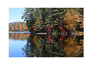 Loon Lake in the Adirondack Mountains of New York State, USA