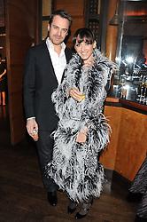 STEVE & KATIA MANKTELOW at a dinner hosted by de Grisogono at 17 Berkeley Street, London on 12th November 2012.