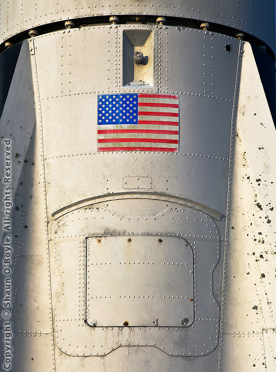 Detail of the Mercury Redstone rocket used by astronauts in preparation for the Apollo flights to the Moon.
