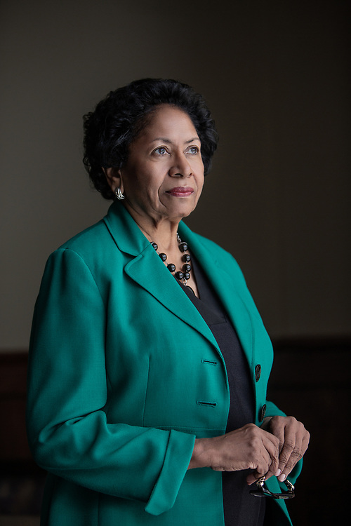 Dr. Ruth Simmons, the president of Prairie View A&M University, poses for a portrait in the President's Dining Room Tuesday June 12, 2018. Dr. Simmons is the first woman to be president of this institution.