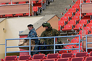 Moscow, Russia, 16/05/2008..A bomb squad officer during security practice inside Luzhniki stadium, location for the forthcoming European Champion's Cup final between Manchester United and Chelsea.