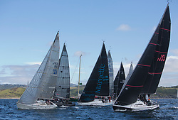 Clyde Cruising Club's Scottish Series 2019<br /> 24th-27th May, Tarbert, Loch Fyne, Scotland<br /> <br /> Day 1, Class 3 Start, GBR6644R, Crystal Clear, Troon Cruising Club, Egythene 24, IRL1484, Harmony, John Swan, Howth Yacht Club, Half Tonner<br /> <br /> Credit: Marc Turner / CCC