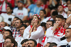 June 19, 2018 - Moscow, Russia - Polscy kibice during the 2018 FIFA World Cup Russia group H match between Poland and Senegal at Spartak Stadium on June 19, 2018 in Moscow, Russia. (Credit Image: © Foto Olimpik/NurPhoto via ZUMA Press)