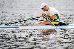 August 5, 2018 - Glasgow, UNITED KINGDOM - 180805 Anders Backeus of Sweden looks dejected after the final B of men's single sculls rowing during the European Championships on August 5, 2018 in Glasgow..Photo: Jon Olav Nesvold / BILDBYRÃ…N / kod JE / 160285 (Credit Image: © Jon Olav Nesvold/Bildbyran via ZUMA Press)
