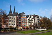 Houses on the Banks of the Rhine, Cologne.
