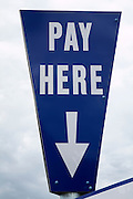 Pay Here car park sign
