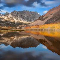Autumn reflection in North Lake, near Bishop, California.