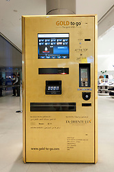 Gold vending machine called Gold to Go at Dubai Burj Khalifa in United Arab Emirates UAE