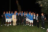 Roma, Casa del Jazz,30-08-2007 Prodi e Veltroni con la Nazionale Itlaiana maschile di basket.