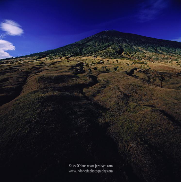North face of Mount Rinjani, Lombok, Nusa Tenggara Barat, Indonesia.