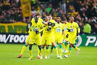 Joie groupe Nantes  - 20.01.2015 - Nantes / Lyon  - Coupe de France 2014/2015<br /> Photo : Vincent Michel / Icon Sport