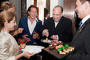 STEPHEN WEBSTER; MICK JONES Stephen Webster hosted  the Stephen Webster Bijoux Tea.  Launching the  tea  inspired by StephenÕs most recent fine jewellery collection ÔMurder She WroteÕ whichwas also on display. Langham Hotel. Portland Place. London. 14 September 2011. <br /> <br />  , -DO NOT ARCHIVE-© Copyright Photograph by Dafydd Jones. 248 Clapham Rd. London SW9 0PZ. Tel 0207 820 0771. www.dafjones.com.<br /> STEPHEN WEBSTER; MICK JONES Stephen Webster hosted  the Stephen Webster Bijoux Tea.  Launching the  tea  inspired by Stephen's most recent fine jewellery collection 'Murder She Wrote' whichwas also on display. Langham Hotel. Portland Place. London. 14 September 2011. <br /> <br />  , -DO NOT ARCHIVE-© Copyright Photograph by Dafydd Jones. 248 Clapham Rd. London SW9 0PZ. Tel 0207 820 0771. www.dafjones.com.