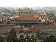 the Forbidden City seen from Jingshan Park Beijing China