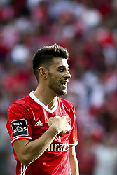 May 13, 2017 - Lisbon, Portugal - Benfica's forward Luis Fernandes 'Pizzi' celebrates after scoring during the Portuguese League  football match between SL Benfica and Vitoria SC at Luz  Stadium in Lisbon on May 13, 2017. (Credit Image: © Carlos Costa/NurPhoto via ZUMA Press)