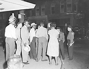 Ackroyd 02242-1. Riot at N. Williams & Russell Ave. Oregonian. June 5, 1950