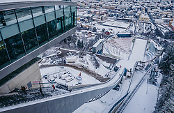 THEMENBILD - die Bergisel Schanze aus der Luft, aufgenommen am 03. Januar 2019 in Innsbruck, Österreich // Arial View of the Bergisel Hill with Stadium, Innsbruck, Austria on 2019/01/03. EXPA Pictures © 2019, PhotoCredit: EXPA/ JFK