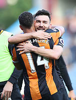 Football - 2016 / 2017 Premier League - Burnley vs. Hull City<br /> <br /> Robert Snodgrass of Hull City celebrates with Jake Livermore of Hull City after the Premier League match between Burnley and Hull City at Turf Moor. <br /> <br /> COLORSPORT/LYNNE CAMERON