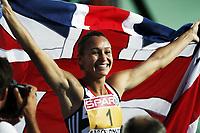 Friidrett, 31. juli  2010 ,<br /> EM Barcelona<br /> <br /> European Athletics Championships<br /> Barcelona<br /> <br /> Jessica Ennis ,GBR , winner heptathlon<br /> <br /> Foto: Anders Hoven , Digitalsport