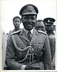 May 05, 1973 - Gen. Yakubu Gowon of Nigeria at the 10th meeting of OAU heads of state addis Abbabe. (Credit Image: © Keystone Press Agency/Keystone USA via ZUMAPRESS.com)