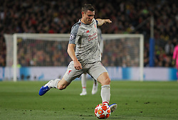 May 1, 2019 - Barcelona, Barcelona, Spain - Milner of Liverpool in action during UEFA Champions League football match, between Barcelona and Liverpool, May 01th, in Camp Nou stadium in Barcelona, Spain. (Credit Image: © AFP7 via ZUMA Wire)