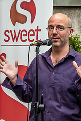 Pictured: Artistic director JD Henshaw h<br /> <br /> Sweet Venues put on some tasters of their acts in Edinburgh for the festival fringe. Artistic director JD Henshaw has returned fo his 20th year and is an enthusisatic as ever.