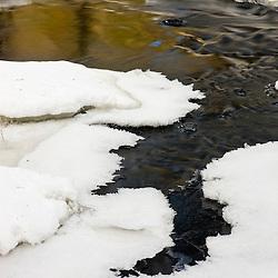 Winter on the Indan Head River at the Tucker Preserve in Pembroke, Massachusetts.  Wildlands Trust of Southeastern Massachusetts.