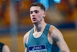 Owen Beuckens in action on the 60 meters during the Dutch Athletics Championships on 13 February 2021 in Apeldoorn