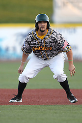 24 July 2015:  Aaron Wright during a Frontier League Baseball game between the Gateway Grizzlies and the Normal CornBelters at Corn Crib Stadium on the campus of Heartland Community College in Normal Illinois