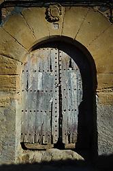 Old Church doorway in Adahuesca, Huesca, Aragon, Spain<br /> <br /> (c) Andrew Wilson | Edinburgh Elite media