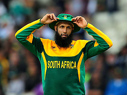 South Africa's Hashim Amla during the ICC Champions Trophy match at Edgbaston, Birmingham.