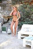 EXCLUSIVE- Billie Faiers Bikini in Ibiza