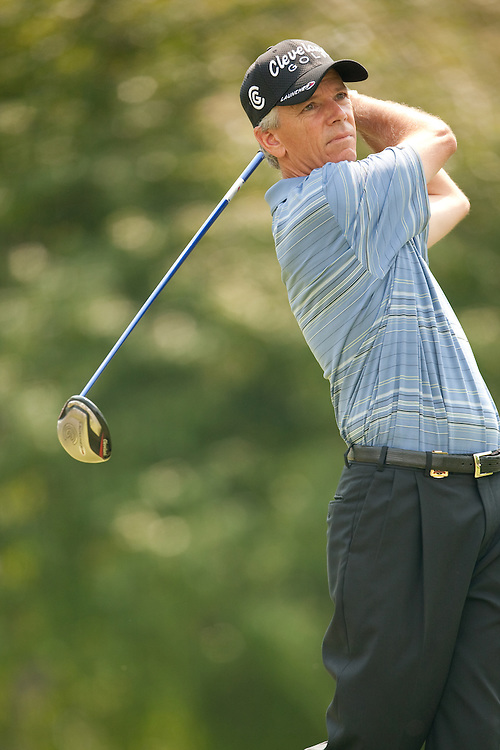 Larry Mize. 2009 Senior PGA Championship, Round 4. Photographed at Canterbury Golf Club in Beachwood, Ohio on Sunday, May 24 2009. Photograph © 2009 Darren Carroll