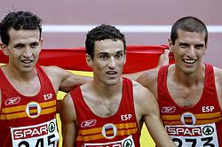 13-08-2006 ATLETIEK: EUROPEES KAMPIOENSSCHAP: GOTHENBURG <br /> 1500 meter - Higuero, Juan Carlos, Espana, Jesus en Villalobos, Pablo  SPA<br /> ©2006-WWW.FOTOHOOGENDOORN.NL