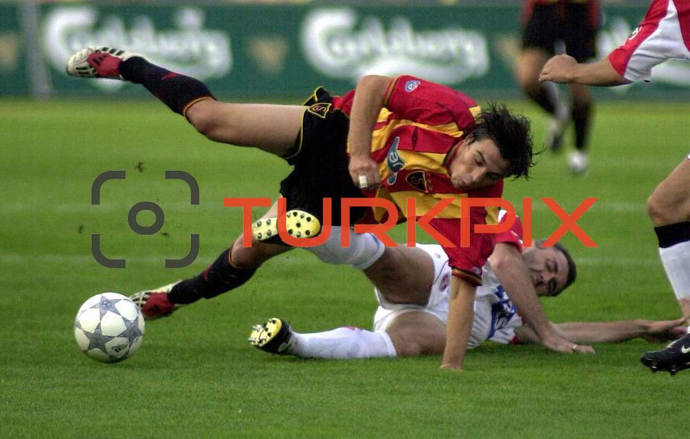 Turkish soccer...<br /> Turkish Soccer team Galatasaray between Sansunspor. Galatasaray's Bulent Korkmaz during their AliSamiYen Stadium in Istanbul/Turkey.<br /> Photo by Aykut AKICI/TurkSporFoto