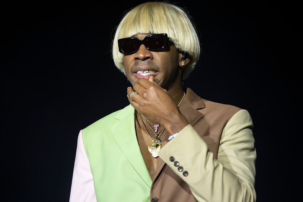 Tyler the Creator performs at his Camp Flog Gnaw Carnival in 2019.