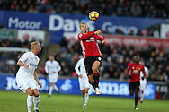Zlatan Ibrahimovic of Manchester Utd in action.   Premier league match, Swansea city v Manchester Utd at the Liberty Stadium in Swansea, South Wales on Sunday 6th November 2016.<br /> pic by  Andrew Orchard, Andrew Orchard sports photography.
