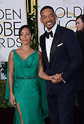 JADA PINKETT SMITH + WILL SMITH @ the 73rd Annual Golden Globe awards held @ the Beverly Hilton hotel.<br /> ©Exclusivepix Media