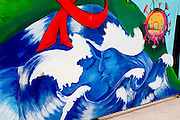 Street art work at Millennium Park.  Chicago Illinois USA