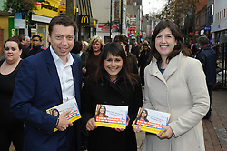 © Licensed to London News Pictures. 18/11/2014<br /> LTR<br /> Iain McNicol<br /> Naushabah Khan (Labour candidate)<br />  Lucy Powell <br /> <br /> Rochester and Strood By-Election in Kent<br />  Lucy Powell, Labour's Vice-Chair of the 2015 General Election campaign, and the party's General Secretary, Iain McNicol, with Naushabah Khan (Labour candidate) in Chatham High Street,Kent.<br /> <br /> <br /> (Byline:Grant Falvey/LNP)