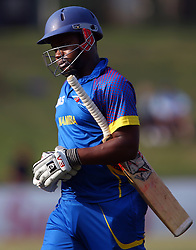 Pietermaritzburg, SOUTH AFRICA 4 September 2016 - Helao Ya France of Namibia during the African Cup T20 game between KwaZulu-Natal Inland and Namibia at the City Oval, Pietermaritzburg, South Africa. Photo by: Steve Haag/ Real Time Images