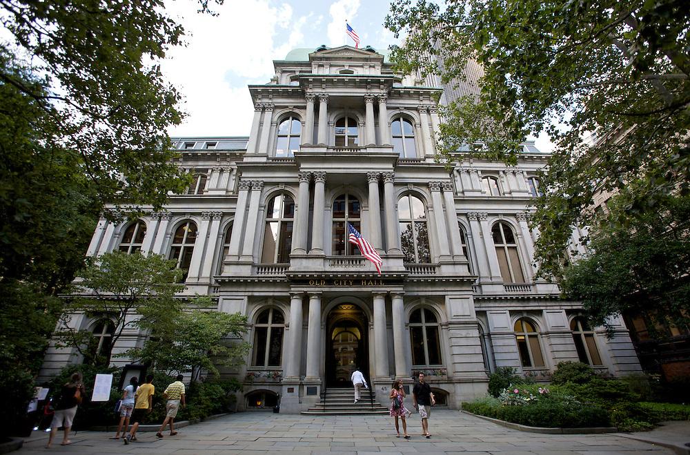 UNITED STATES-BOSTON-City Hall. PHOTO: GERRIT DE HEUS.VERENIGDE STATEN-BOSTON-Het oude Stadhuis. PHOTO GERRIT DE HEUS