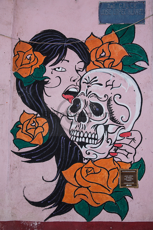 Oaxaca, Mexico - 07.01.2019<br /> <br /> Street art in the city Oaxaca, Mexico. <br /> <br /> Streetart in der mexikanischen Stadt Oaxaca. <br /> <br /> Photo: Bjoern Kietzmann