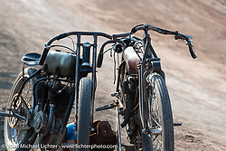 Race bikes at Sons of Speed during the 78th annual Sturgis Motorcycle Rally. Sturgis, SD. USA. Thursday August 9, 2018. Photography ©2018 Michael Lichter.