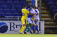 Goal - Edward Upson (6) of Bristol Rovers scores a goal to give a 1-0 lead to the home team during the EFL Sky Bet League 1 match between Bristol Rovers and AFC Wimbledon at the Memorial Stadium, Bristol, England on 23 October 2018.
