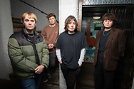 The Zangwills, a UK based indie rock band from Cheshire. The band members are (left to right): Adam 'Spence (drums), Ed Dowling (bass), Sam Davies (lead guitar), Jake Vickers (vocals & guitar).<br /> Photo©Steve Forrest/Workers' Photos