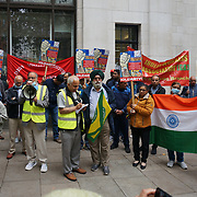 Indian Workers' Association GB protest against Modi regime three black laws passed against minority