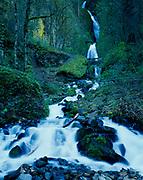 Wahkeena Falls, Columbia River National Scenic Area, Mount Hood National Forest, Oregon.