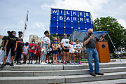 Wilkes-Barre, PA (July 11, 2020) --  Pennsylvania State Representative Eddie Day Pashinski speaks at the Black Lives Matter NEPA United Movement demonstration at Wilkes-Barre Public Square.